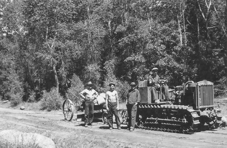 Building the roads in the Pueblo Mountain Park.