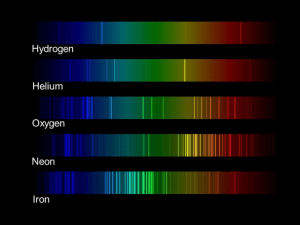 This image shows examples of spectra for various elements.