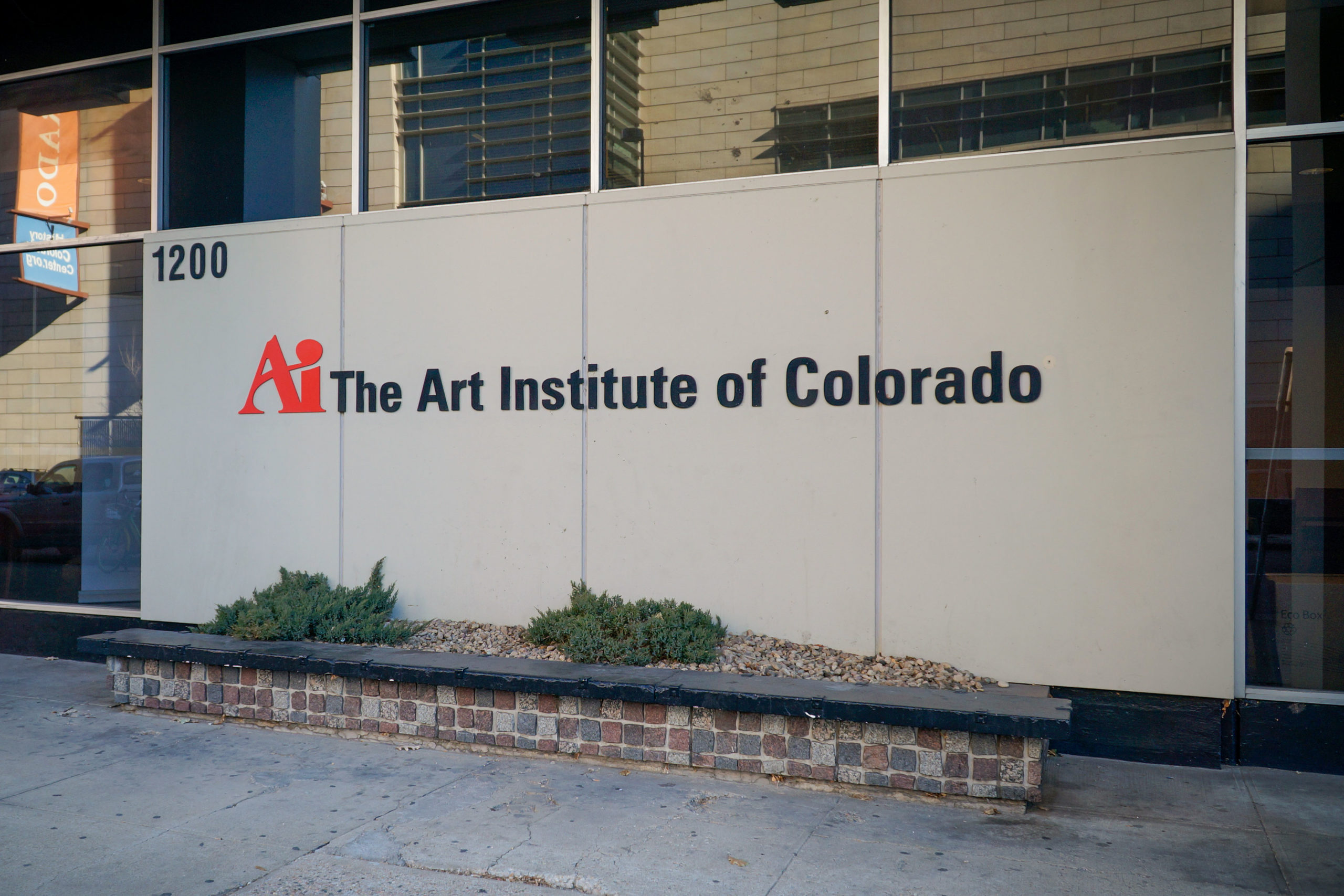The exterior of the former Art Institute of Colorado on Lincoln Street in Denver.
