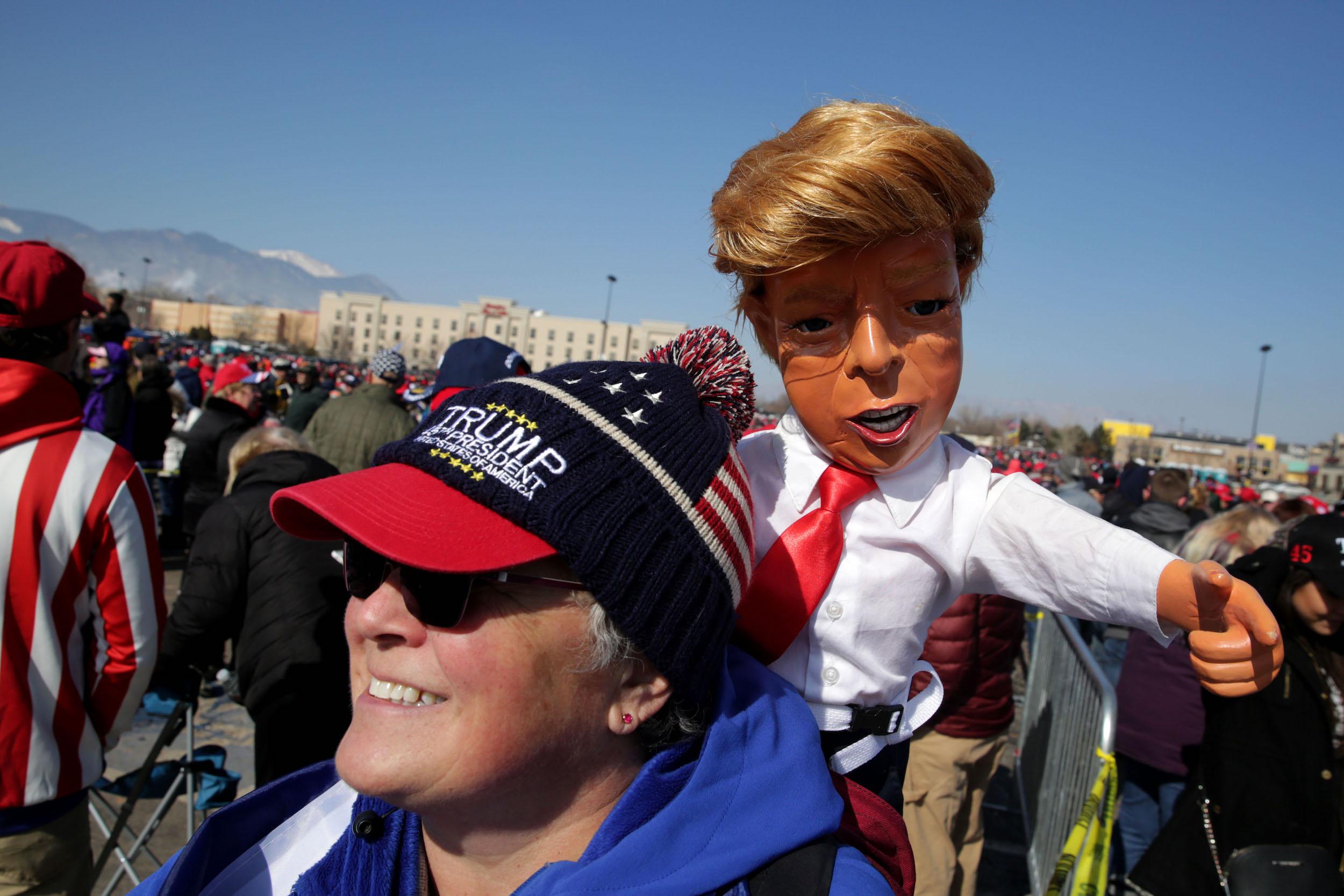 President Donald Trump Campaigns In Colorado Springs