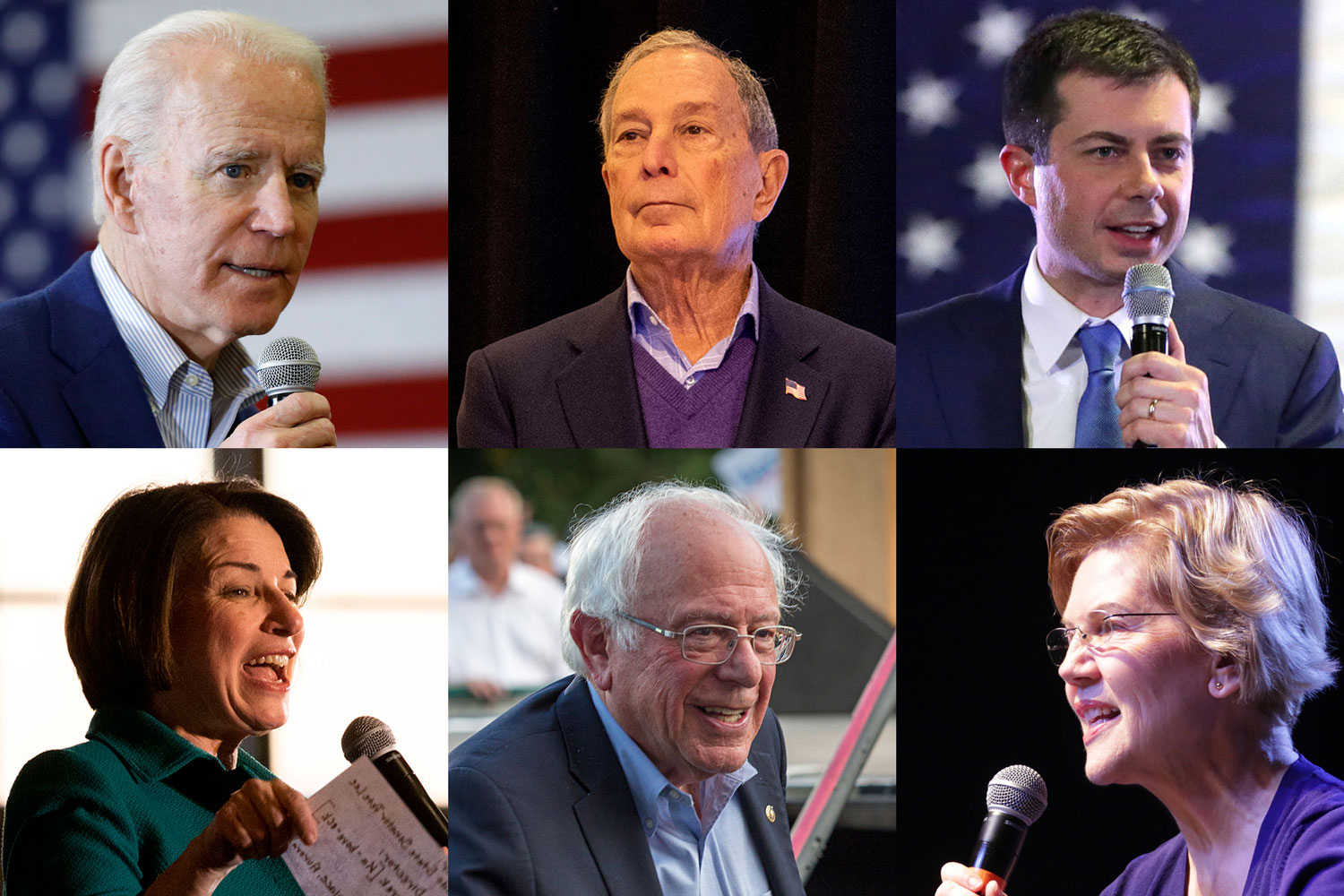 Six Democrats Running For President Biden Bloomberg Buttigieg Kl