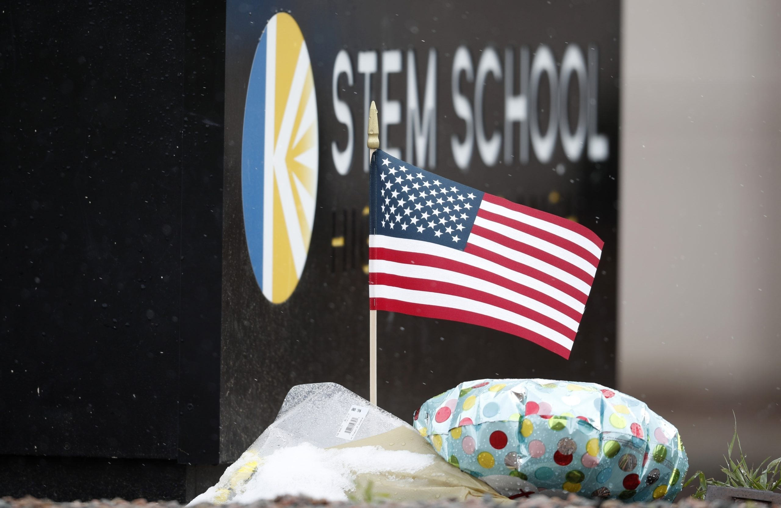STEM Highlands Ranch school, American flag, STEM Highlands Ranch