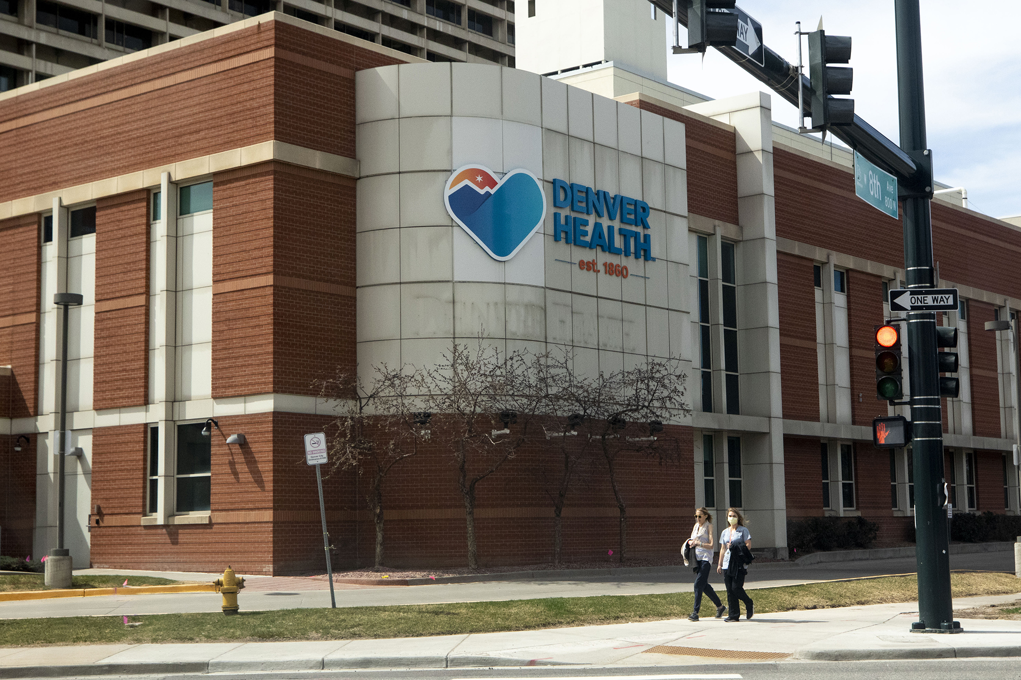 Denver Health. April 1, 2020. (Kevin J. Beaty/Denverite)