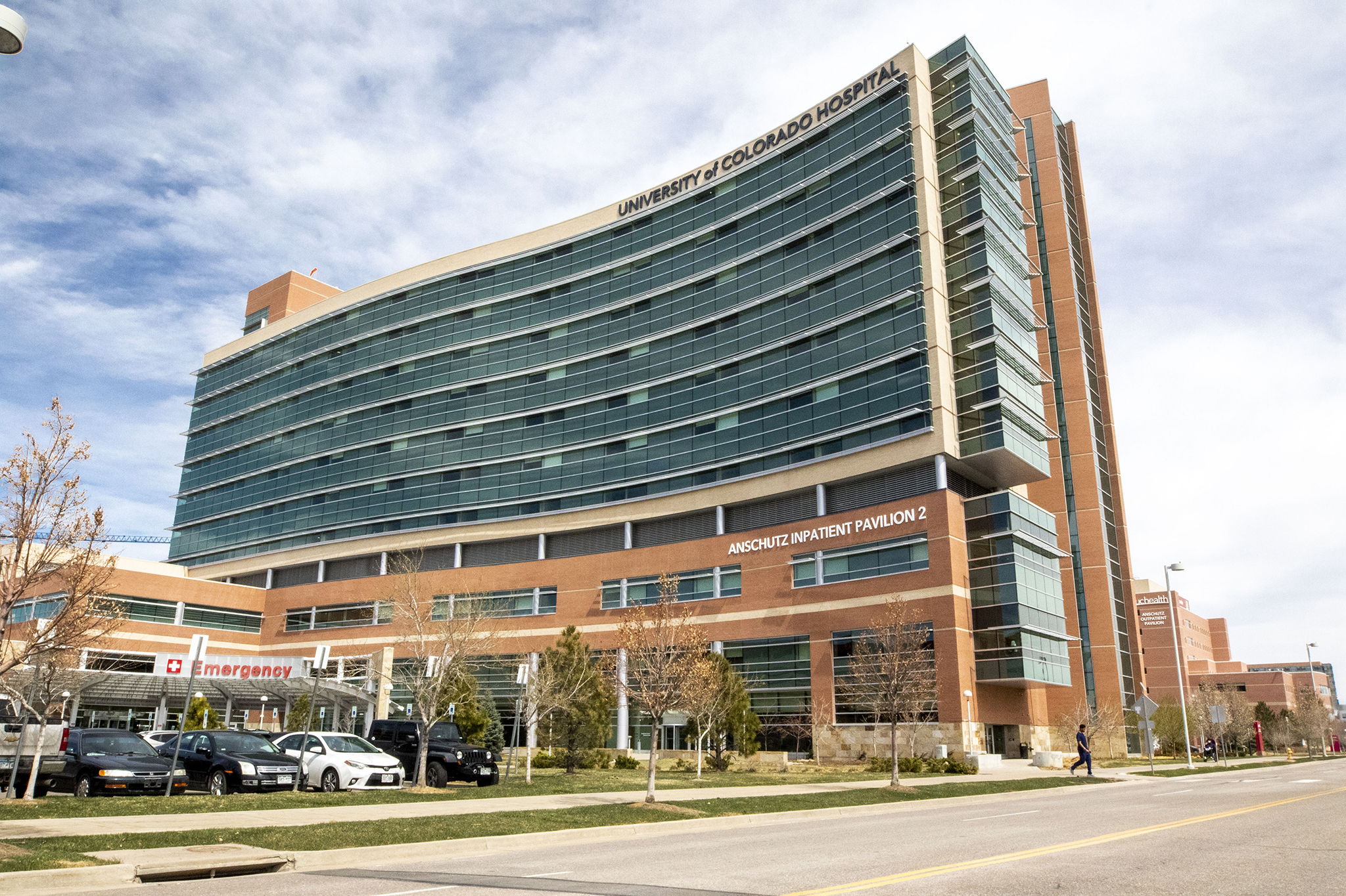 The University of Colorado Hospital. April 1, 2020. (Kevin J. Beaty/Denverite)