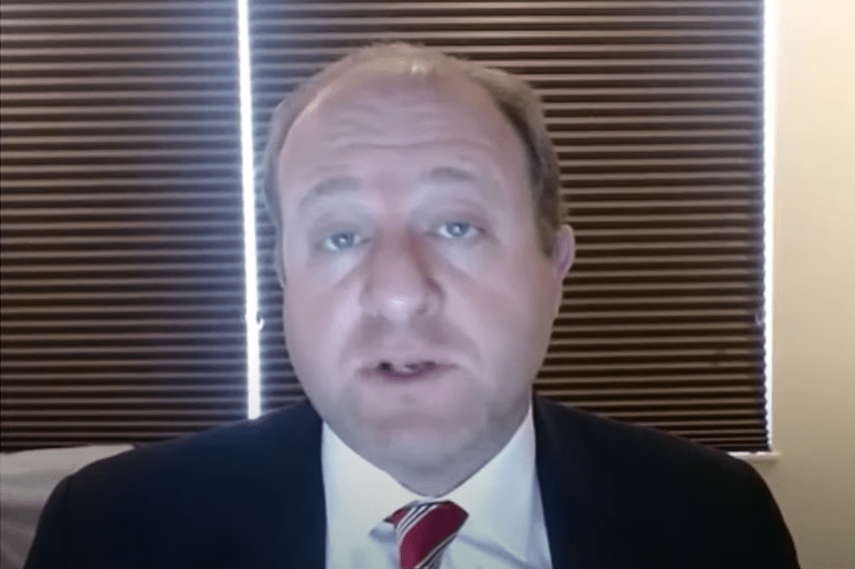 Gov. Jared Polis provided a remote update of the states reponse to the coronavirus on Friday, April 14, 2020.