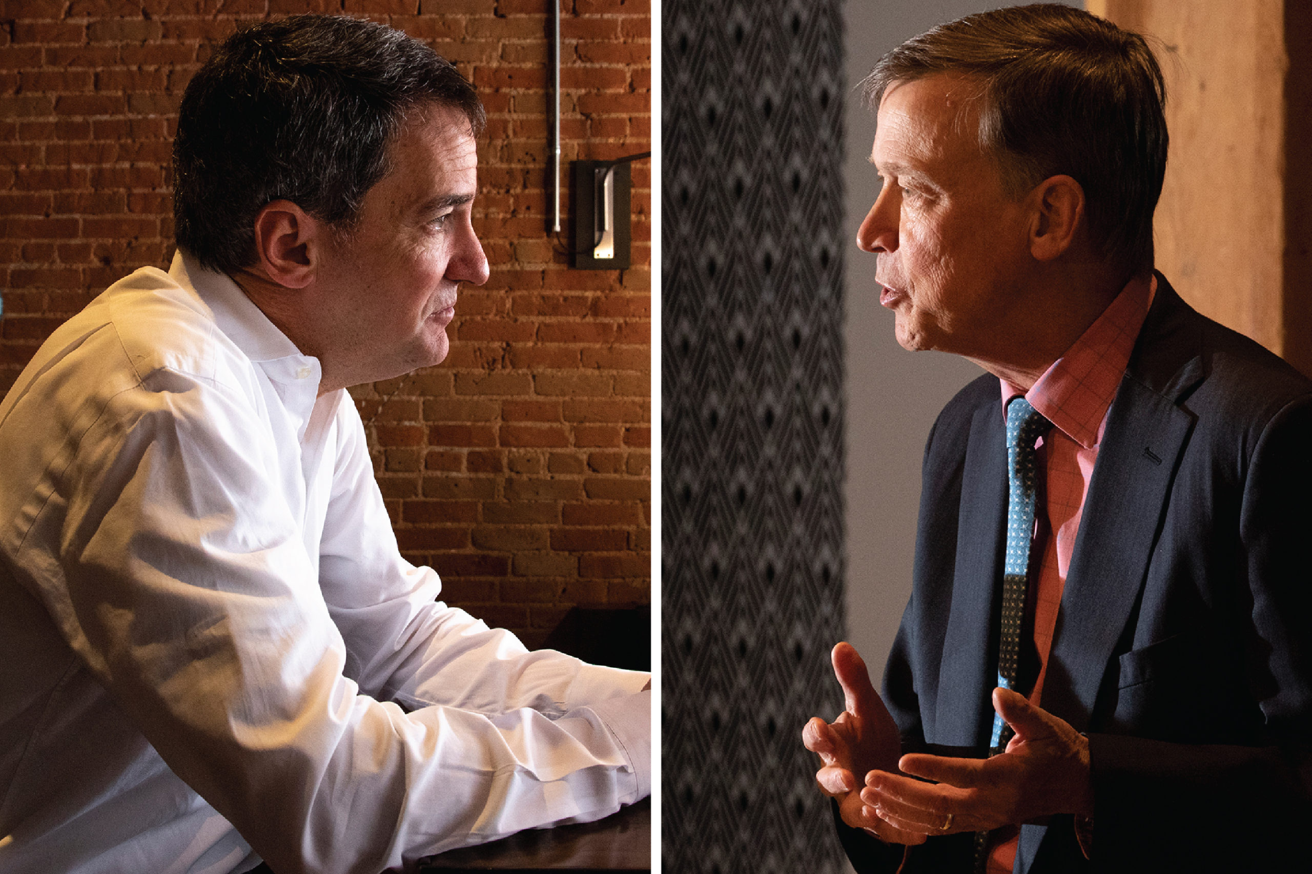 Andrew Romanoff and John Hickenlooper.