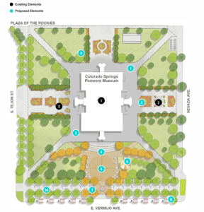 A map showing the proposed changes for Alamo Square Park. An interactive version of the map is available here: https://www.designworkshop.com/cos/