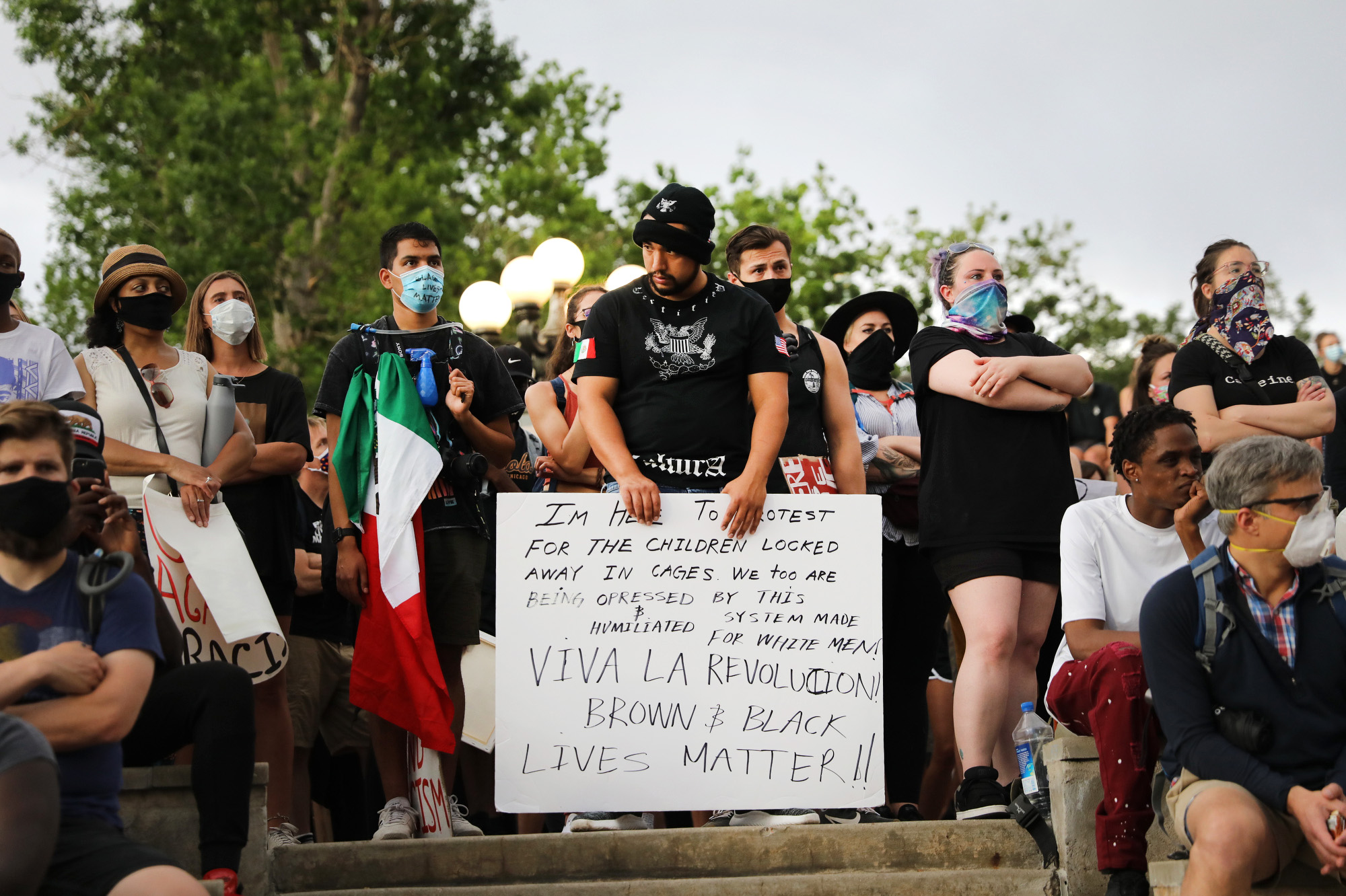 Denver Protests Against Racism Police Brutality June 2020 Latino