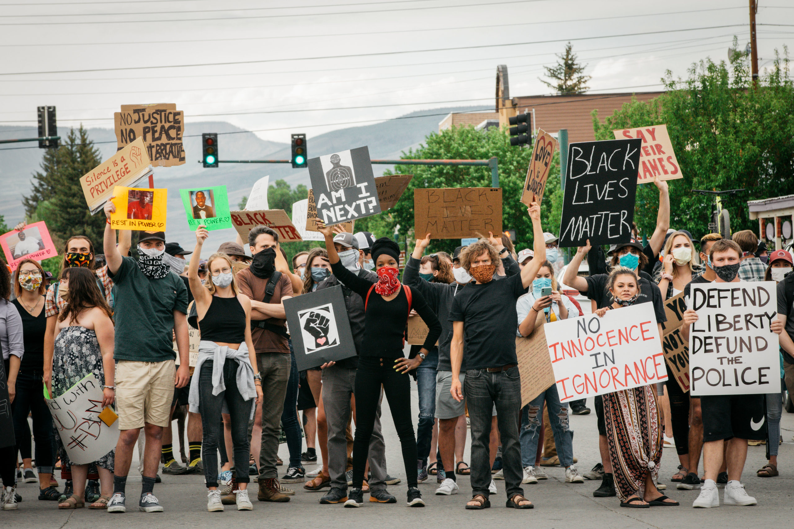 "The ""Justice for All"" rally drew hundreds of people from the Gunnison Valley, June 2, 2020."