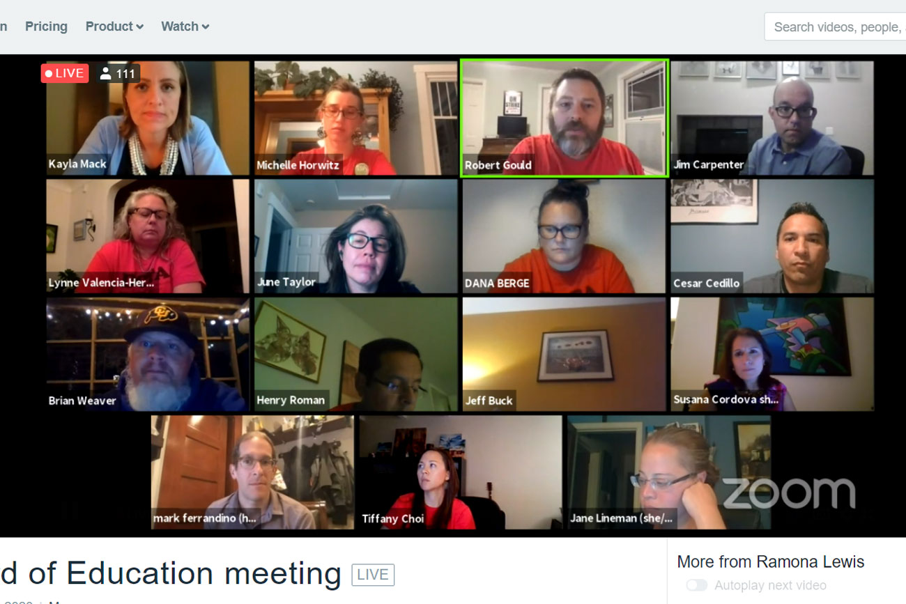 Members of Denver Public Schools leadership and the Denver Classroom Teachers Association met over Zoom to negotiate on June 18, 2020.