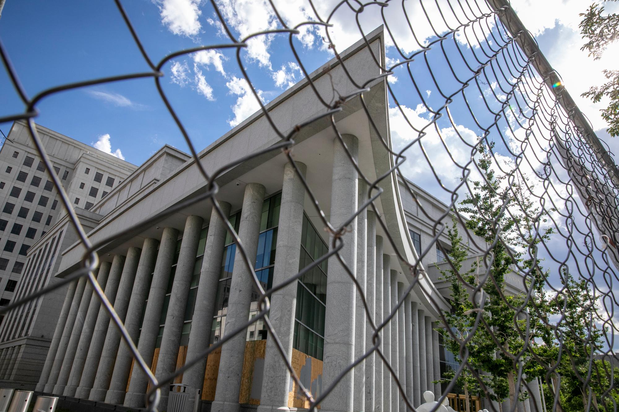 Colorado Supreme Court Behind Fence