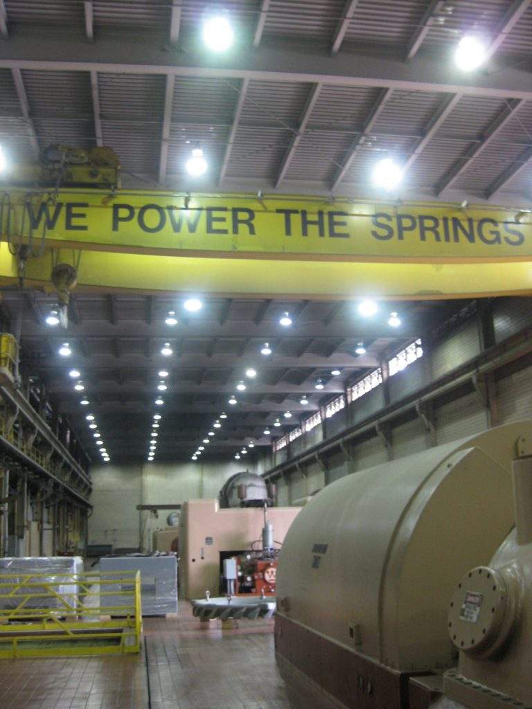 File photo, inside the Drake Power Plant in 2011.