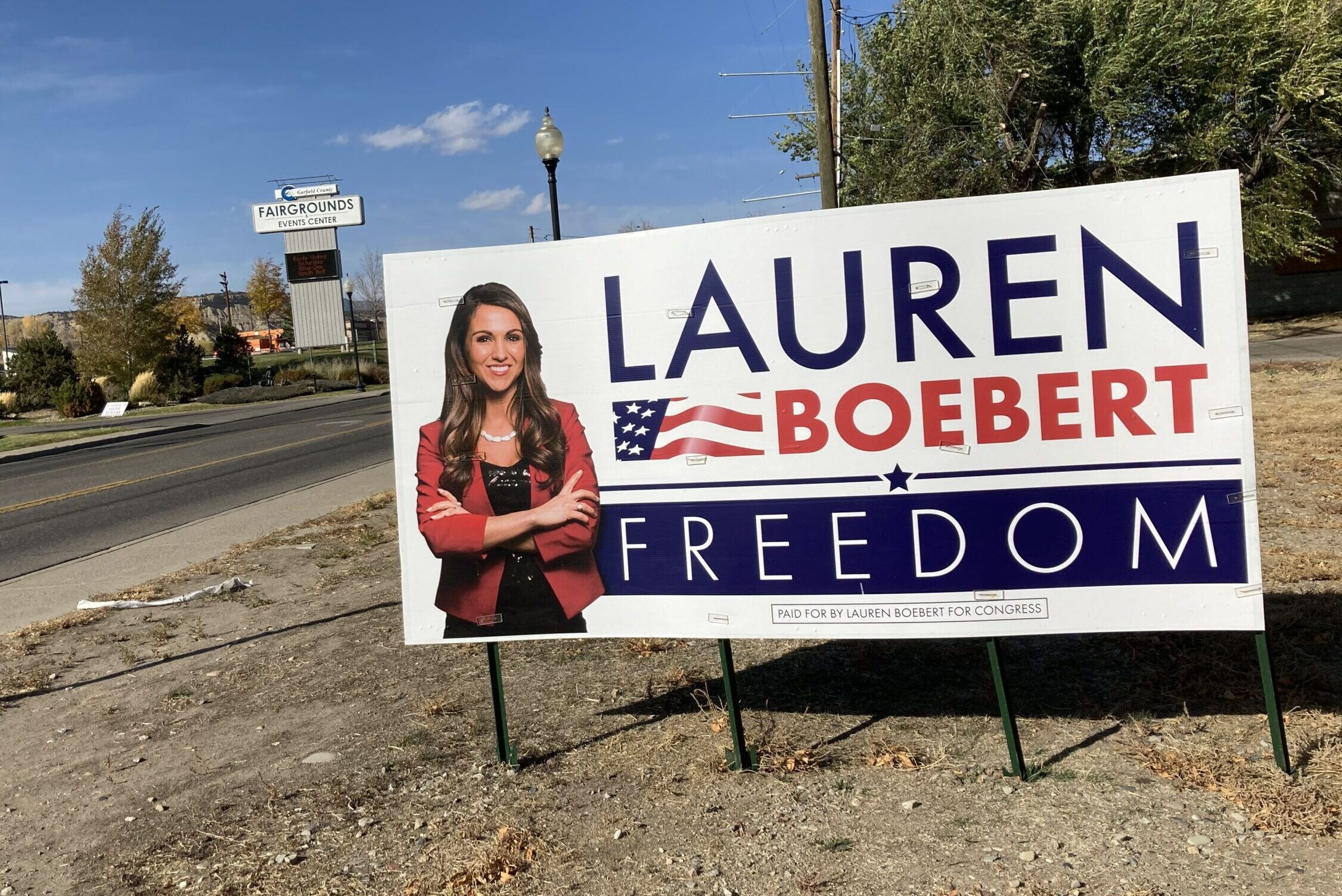 Signs for Lauren Boebert can be found all across Colorados 3rd Congressional District.