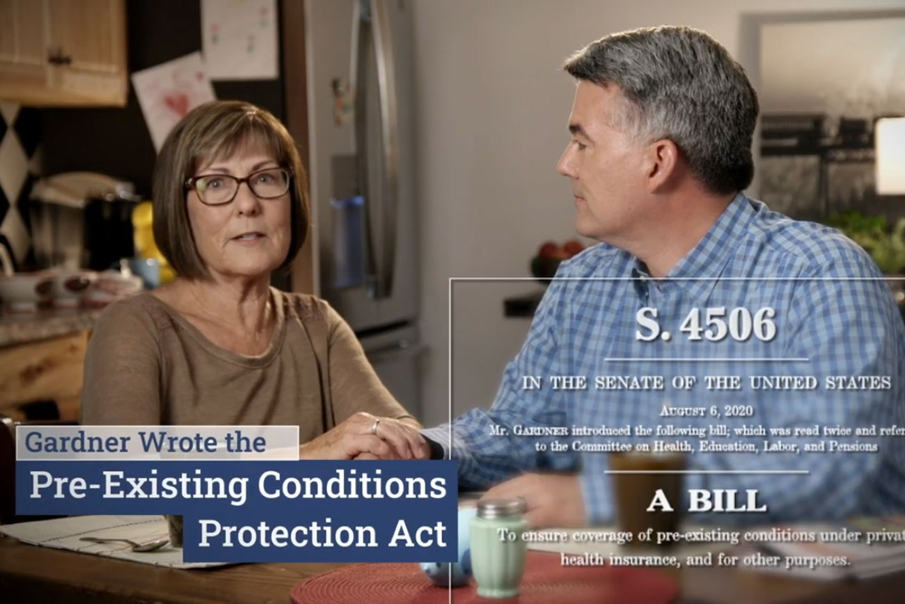 "A screencap still from a Cory Gardner 2020 Senate race political ad titled ""Forever."""