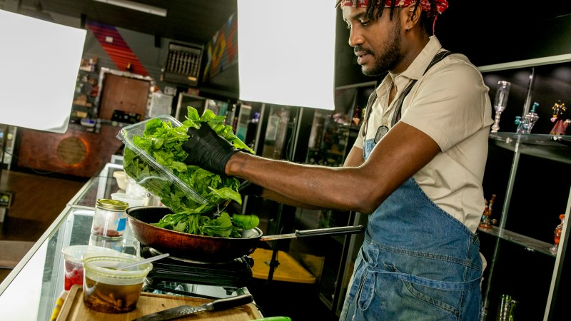 Harold Sims infuses his African-inspired cuisine with cannabis