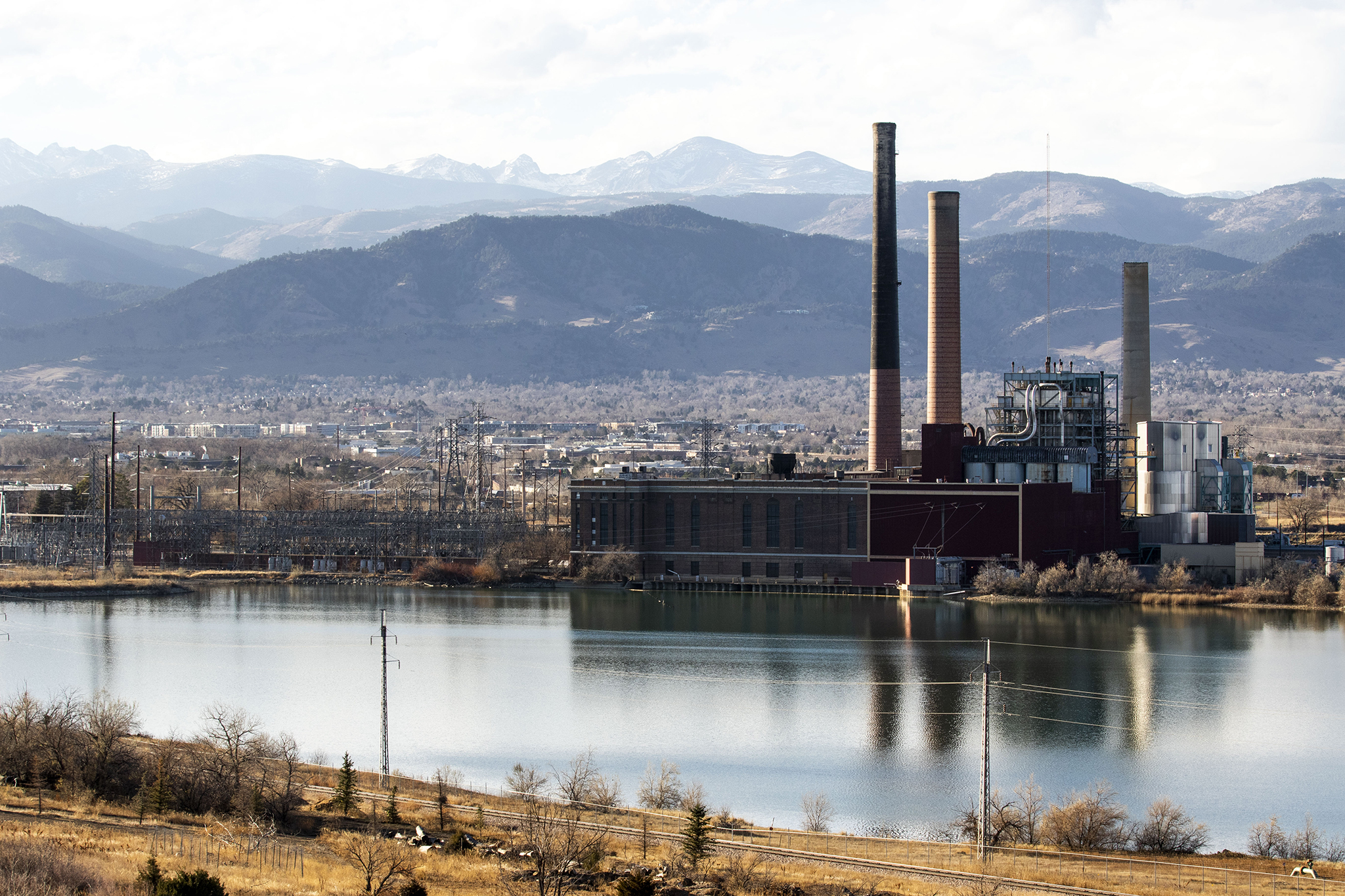 Xcel Energy's Valmont Generating Station in Boulder. Nov. 19, 2020.