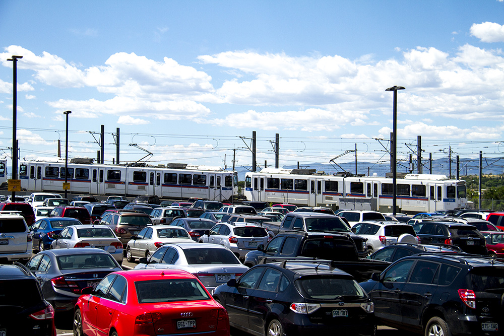 RTD's I-25 and Broadway station park-and-ride.