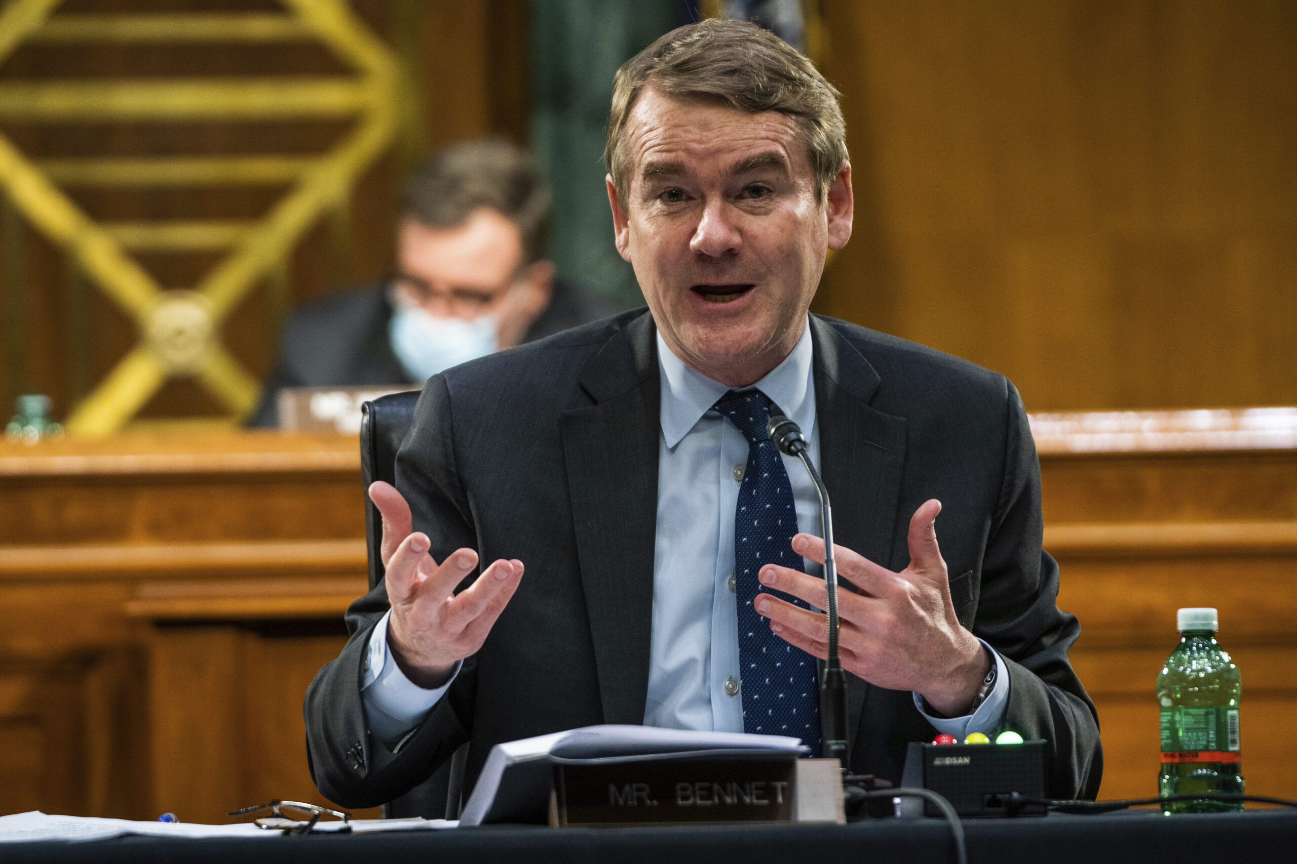 Sen. Michael Bennet, D-Colo., speaks