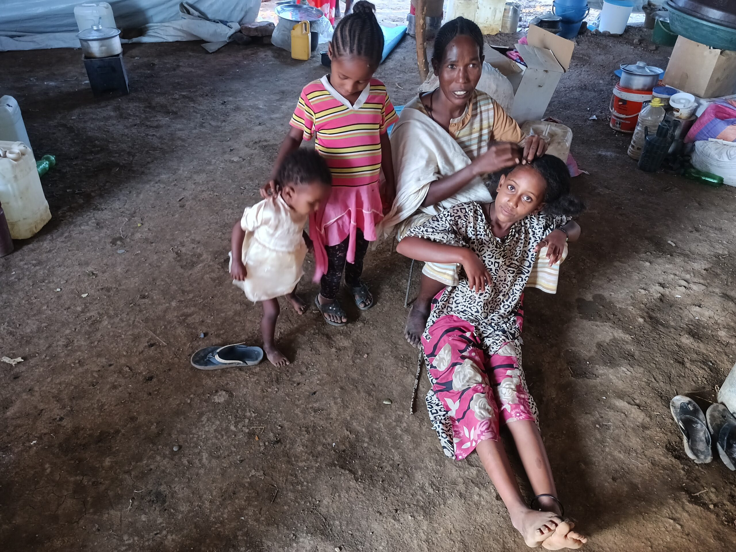 """Awetash Yibra became separated from her three children during a massacre in the town of Mai Kadra, Ethiopia. After 52 days of searching she learned they were in a refugee camp in Sudan. Her 8-year-old is still traumatized, Yibra said. """"She was mourning my death."""""""