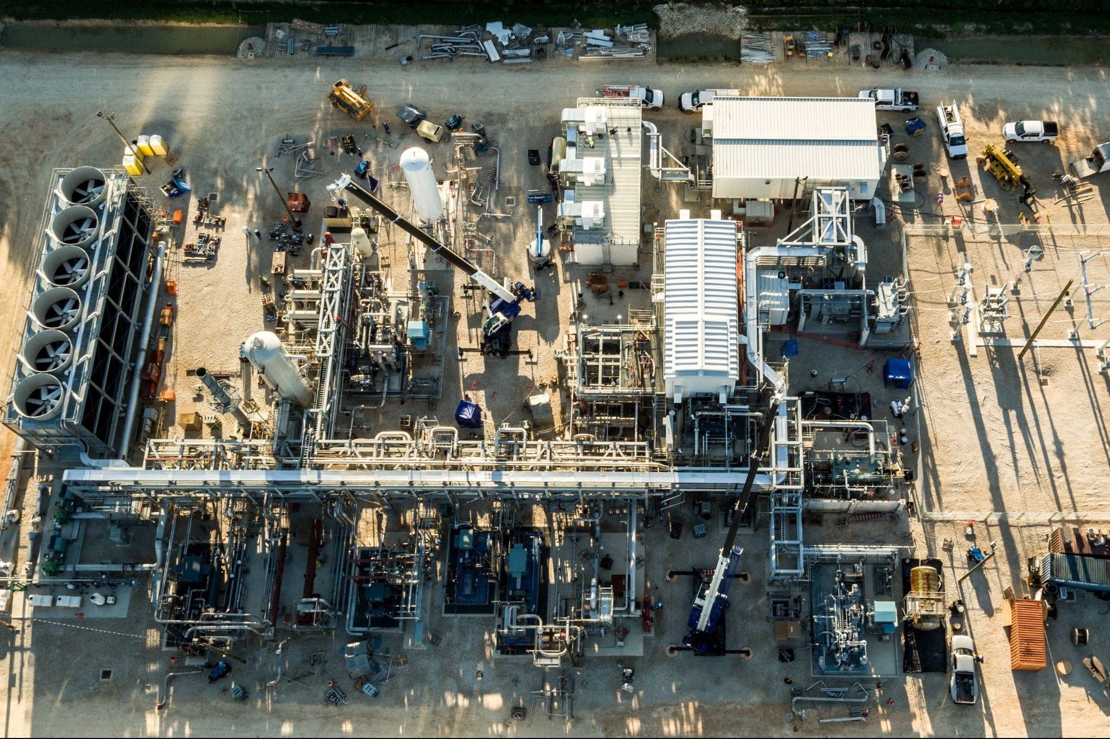 NET Power's test power plant in La Porte, Texas captures the CO2 it produces before it enters the atmosphere.