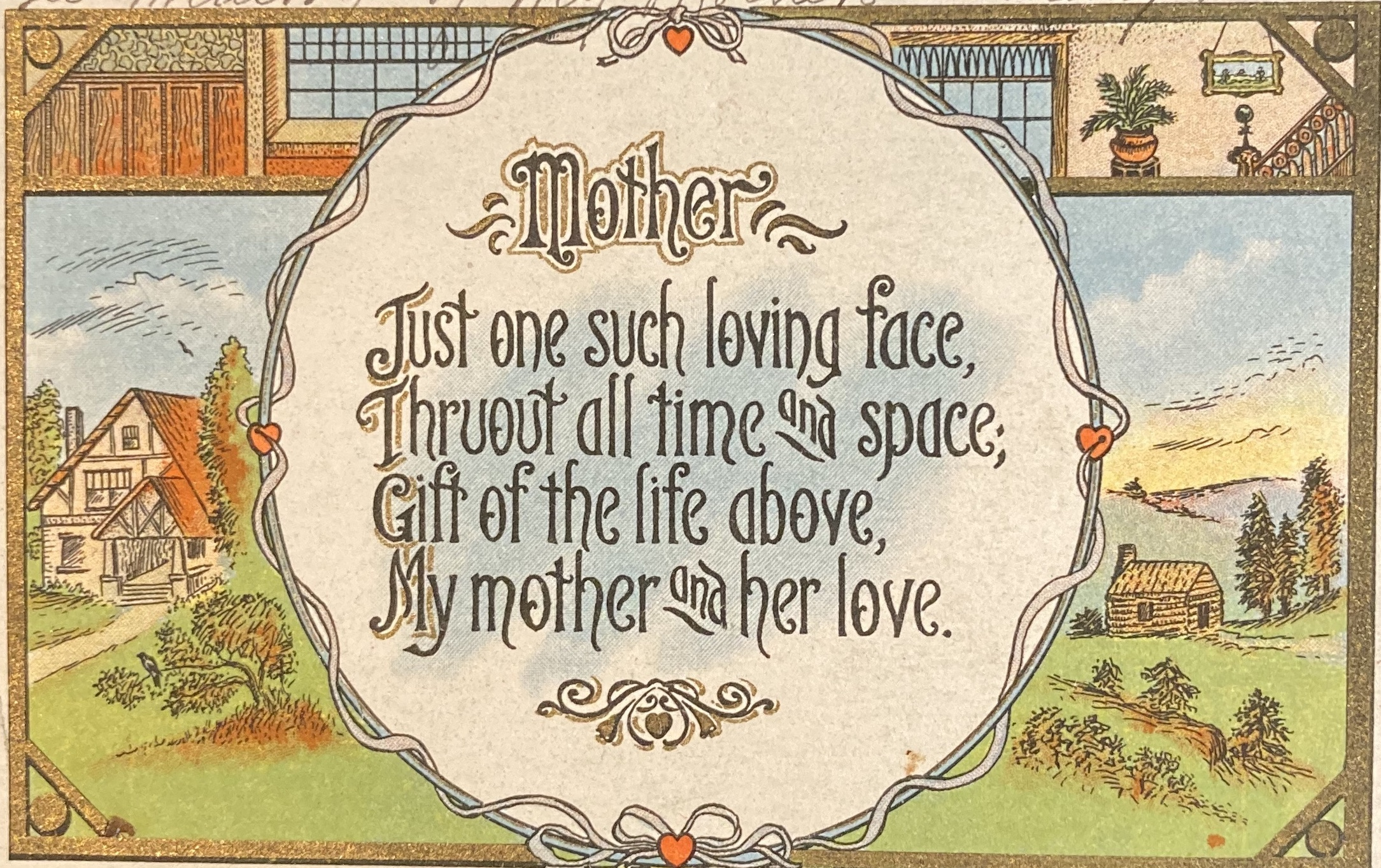 A Mother's Day postcard printed in 1913, purchased at Sweet William Antique Mall in Colorado Springs. Sweet William Antique Mall is an underwriter of KRCC.
