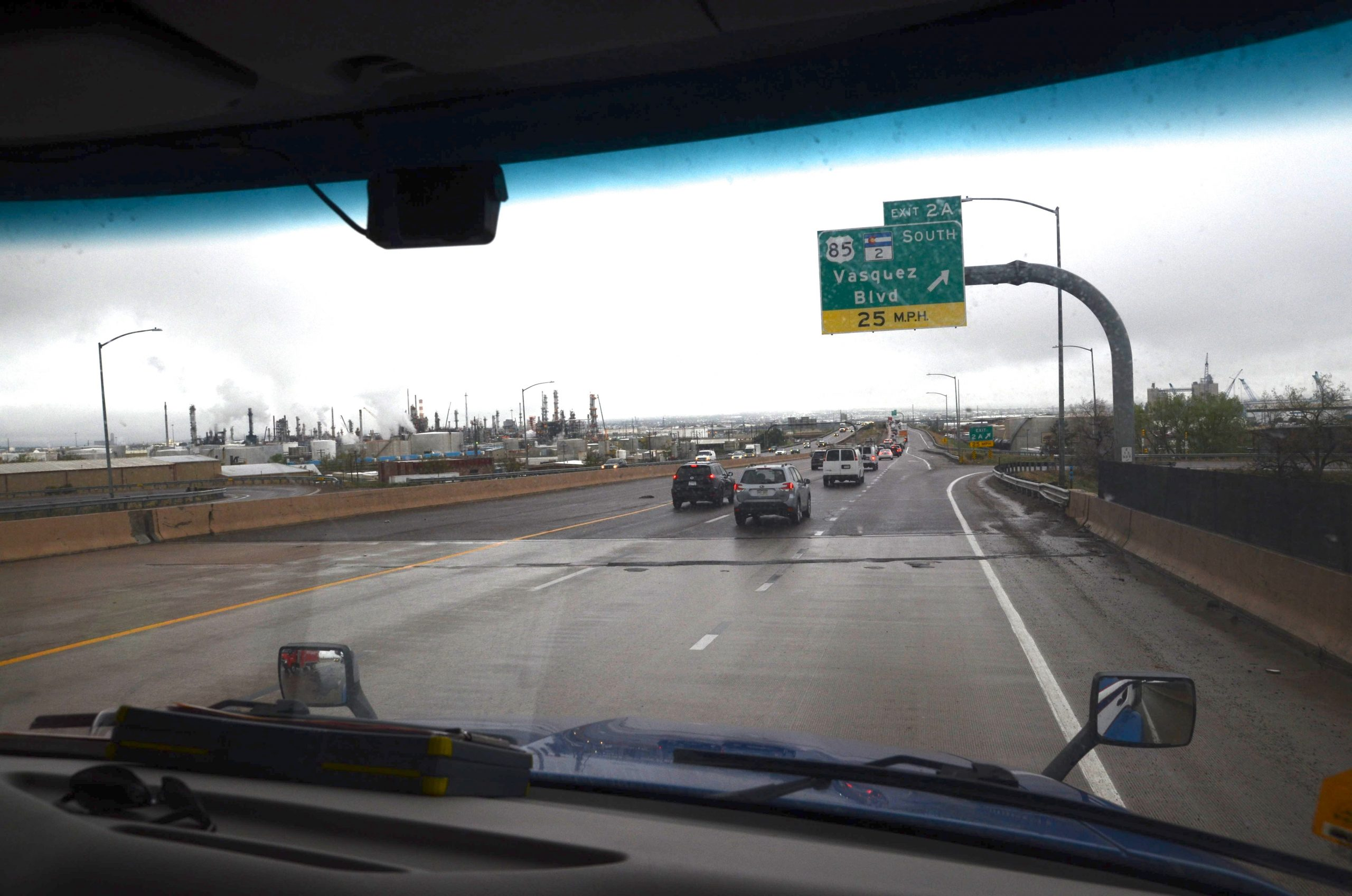 Truck Driver Jesus Torres' route took him on Interstate 270 just after leaving the Phillips 66 terminal in Commerce City.