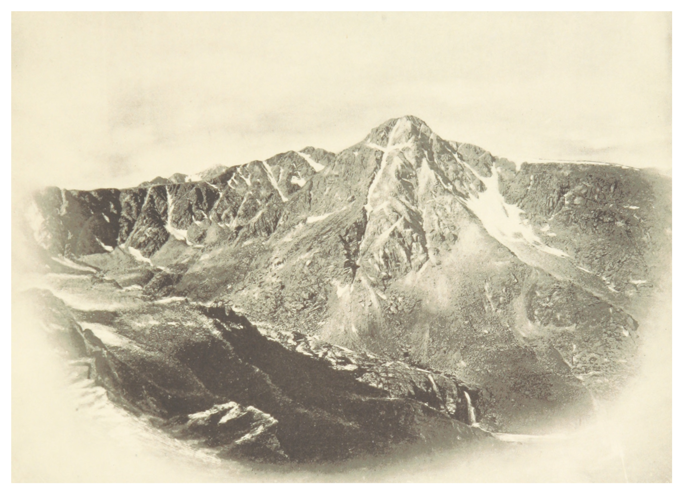 A photograph of Mount of the Holy Cross, taken in 1887 by photographer William Henry Jackson.