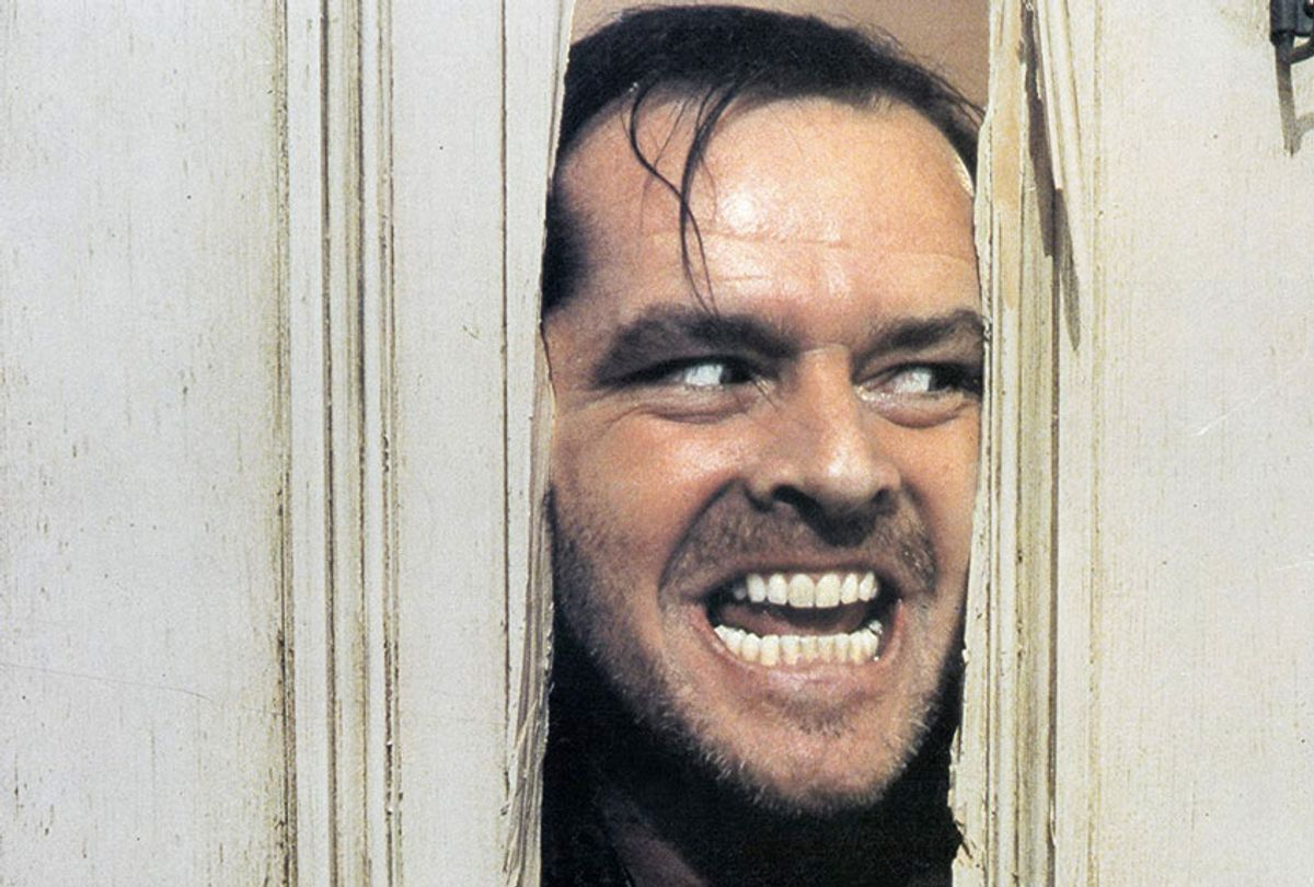 """Jack Nicholson as Jack Torrence in Stanley Kubrick's film, """"The Shining""""."""