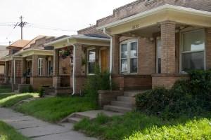 A pre-World War II home bears a soon-to-be taboo symbol. (Kevin J. Beaty/Denverite)  denver; denverite; colorado; kevinjbeaty; swastika; history; architecture; west highland; the highlands;