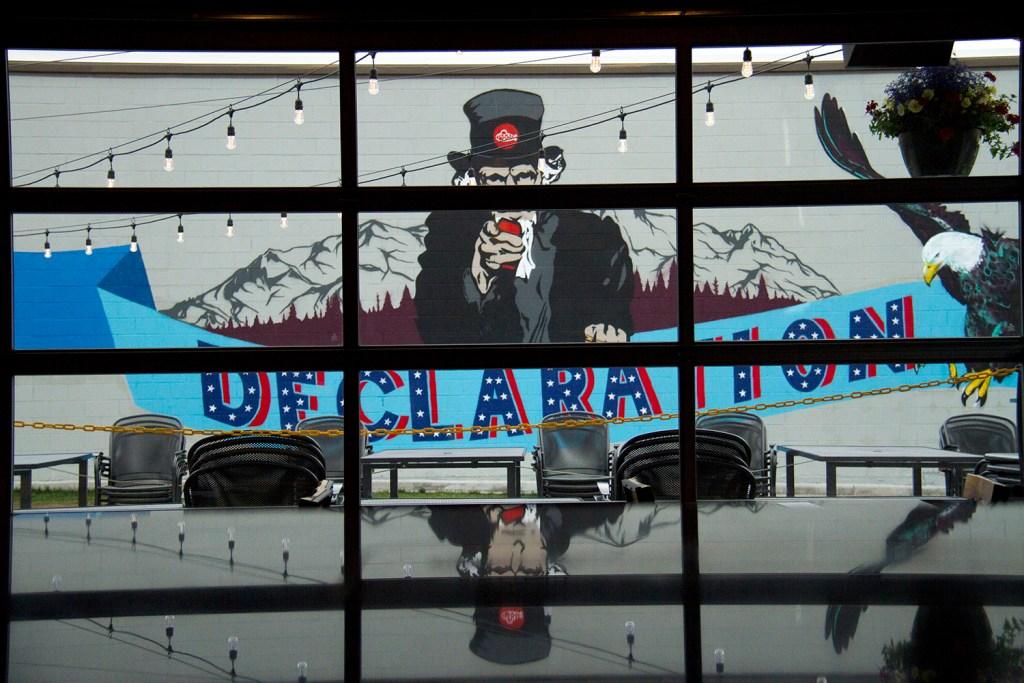 Declaration Brewing near the Evans light rail stop. (Kevin J. Beaty/Denverite)  brewery; beer; light rail; train; transportation; bars; food; dining; drinks; denver; denverite; colorado; kevinjbeaty