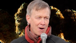 A photo montage of Governer John Hickenlooper and a marijuana bud. (Kevin J. Beaty/Denverite)  hickenlooper; governor; marijuana; pot; weed; denver; colorado; denverite; kevinjbeaty;