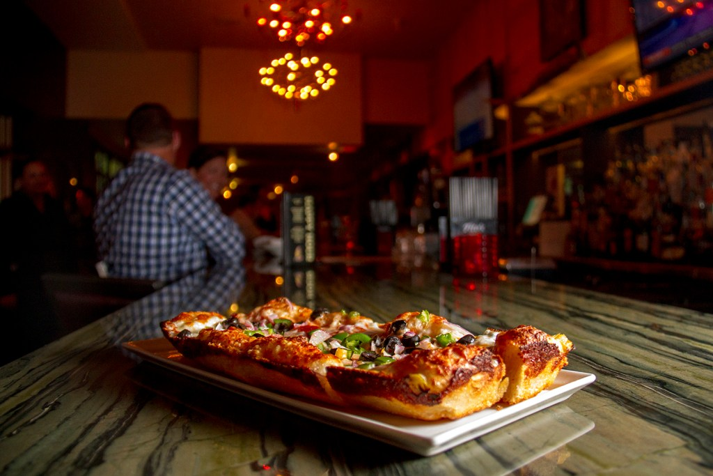 Detroit-style pizza at The Good Son on Colfax. (Kevin J. Beaty/Denverite)  congress park; colfax; good son; pizza; food; dining; denverite; denver; colorado; kevinjbeaty;