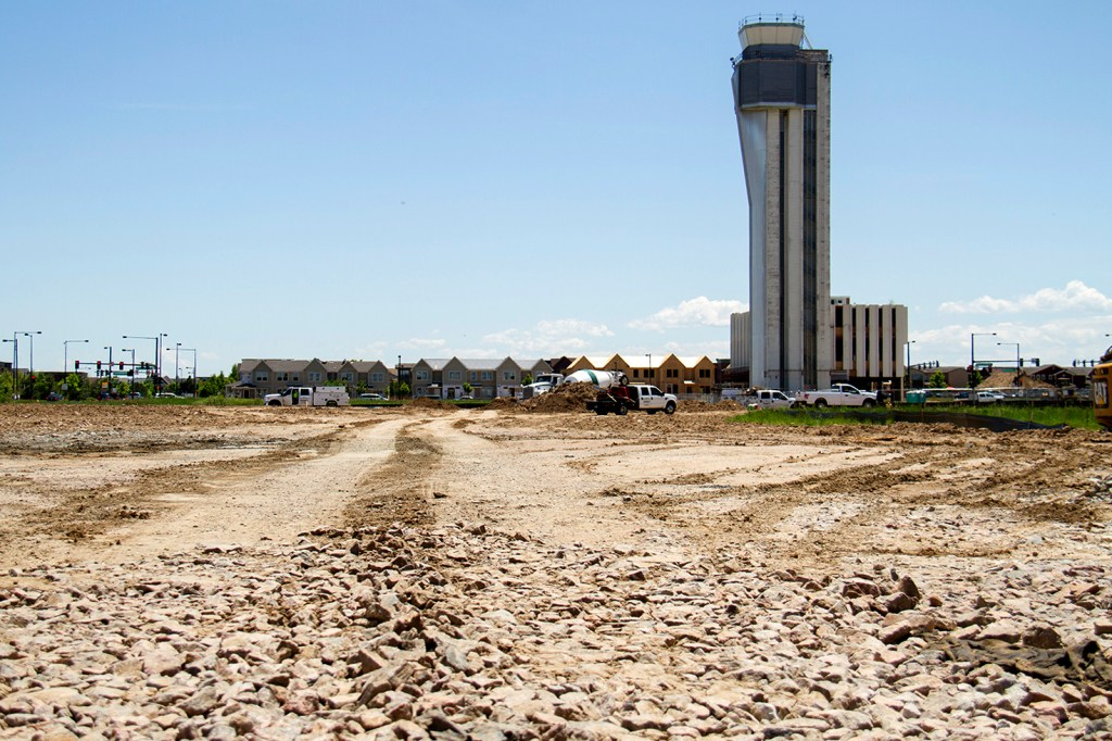 Stapleton Airport's defunct air traffic control tower. (Kevin J. Beaty/Denverite)  stapleton airport; tower; denverite; denver; colorado; kevinjbeaty