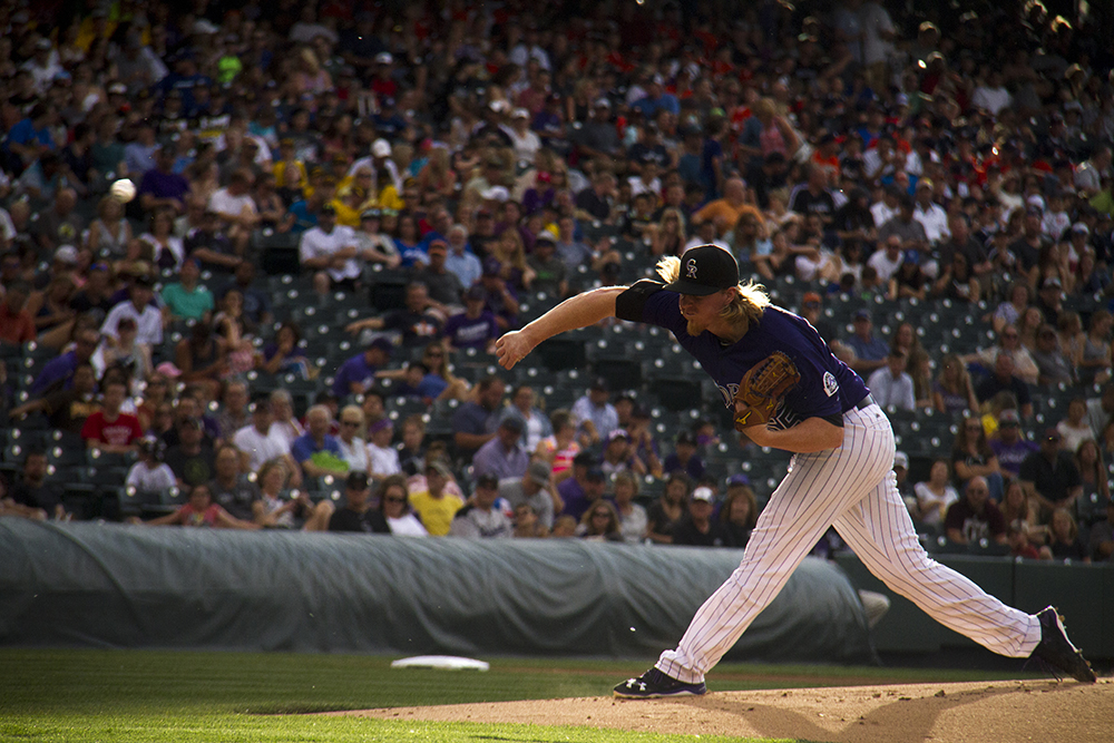 Jon Gray. Colorado Rockies vs San Diego Padres. June 11, 2016. (Kevin J. Beaty/Denverite)  rockies; colorado; baseball; denver; coors field; jon gray; kevinjbeaty; denverite;