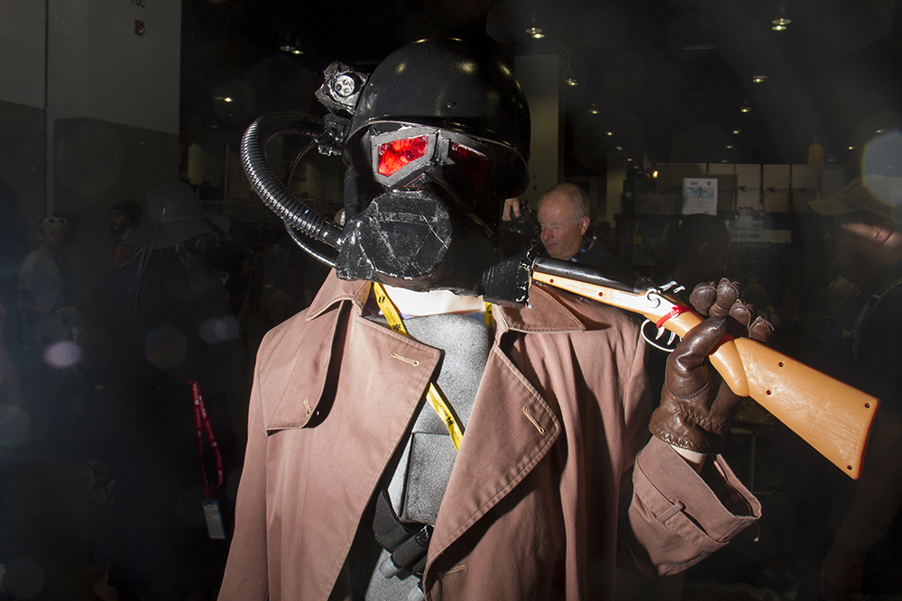 Noah Symmes-Delso as an NCR Ranger from the Fallout games. Denver Comic Con on June 19, 2016. (Kevin J. Beaty/Denverite)  denver comic con; convention center; denver; colorado; denverite; kevinjbeaty