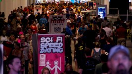 Packed convention halls on the last day at Denver Comic Con. June 19, 2016. (Kevin J. Beaty/Denverite)  denver comic con; convention center; denver; colorado; denverite; kevinjbeaty