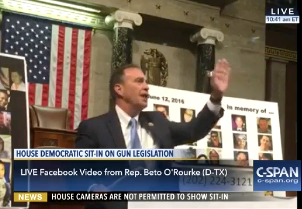 Rep. Ed Perlmutter (D) of Colorado speaks during a 24-hour sit-in in the US House of Representatives on June 23, 2016. (Beto O'Rourke/Facebook Live/C-SPAN)  house of representatives; ed perlmutter; politics; cspan; gun sit in; denverite;