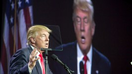 Donald Trump at the Western Conservative Conference 2016. (Kevin J. Beaty/Denverite)western conservative conference 2016; colorado convention center; donald trump; election; politics; vote; denver; denverite; kevinjbeaty; colorado; donaldtrump;