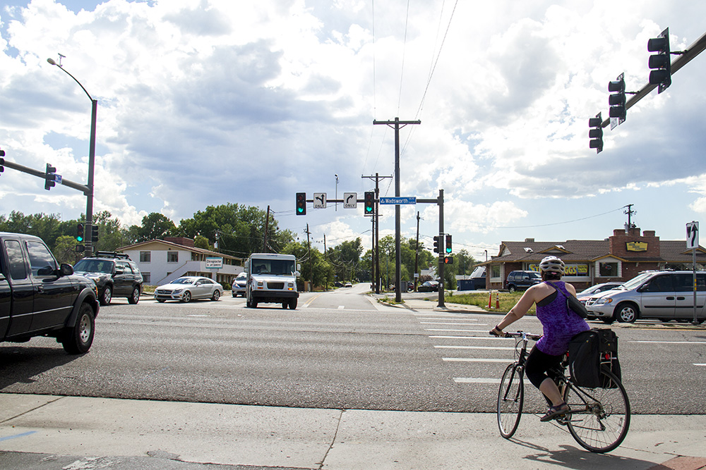 The Intersection of Wadsworth and 5th. (Kevin J. Beaty/Denverite)  wadsworth and 5th; dangerous intersections; denver; denverite; kevinjbeaty; lakewood; colorado;