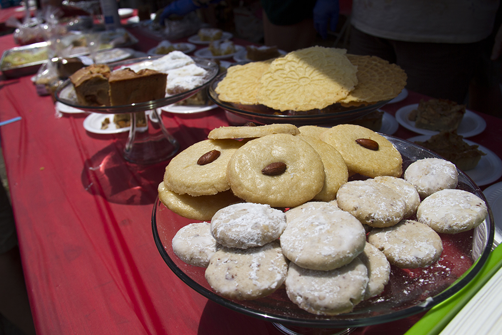 Eastern European sweets for sale at Old Globeville Days in Argo Park, July 16, 2016. (Kevin J. Beaty/Denverite)  old globeville days; argo park; festival; eastern european; kevinjbeaty; denver; denverite; colorado;