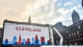 A sign for the Republican National Convention in Cleveland. (Erik Drost / Flickr)