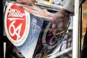Miller64 on display at a store in the U.S. (Tom Parker/Courtesy of SABMiller)