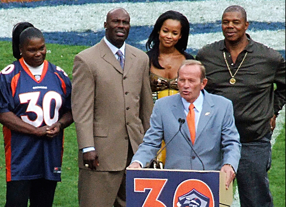 Denver Broncos owner Pat Bowlen, front, will have to wait another year to be considered for the Pro Football Hall of Fame. (Jeffrey Beall/Flickr)