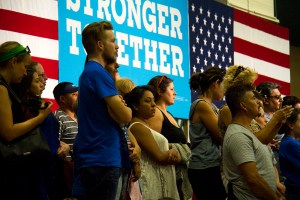 Hillary Clinton Rally. August 3, 2016. (Kevin J. Beaty/Denverite)  hillary clinton; politics; election; vote; kevinjbeaty; denver; denverite; commerce city; colorado;