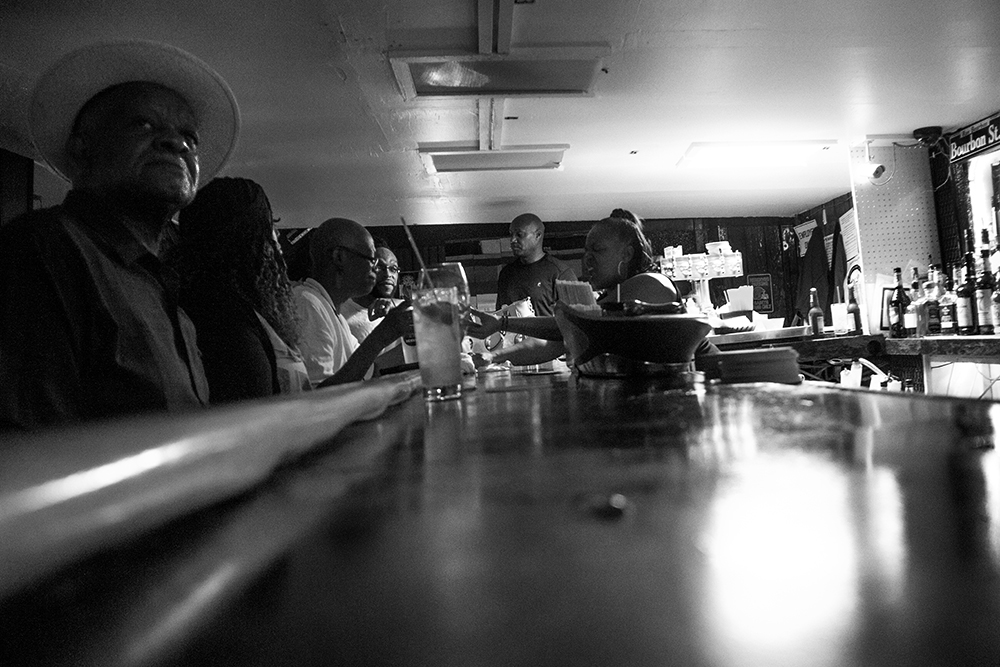 Though the restaurant is fairly empty, the bar at Randall's (otherwise known as the New Climax Lounge) on Welton Street is full of regulars. (Kevin J. Beaty/Denverite)  welton street; five points; development; kevinjbeaty; denver; denverite; colorado;