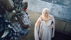 Emilia Clarke in season 5 of Game of Thrones. (Courtesy of HBO)