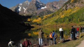 Views of Maroon Bells. (USDA/Scott Mecum)