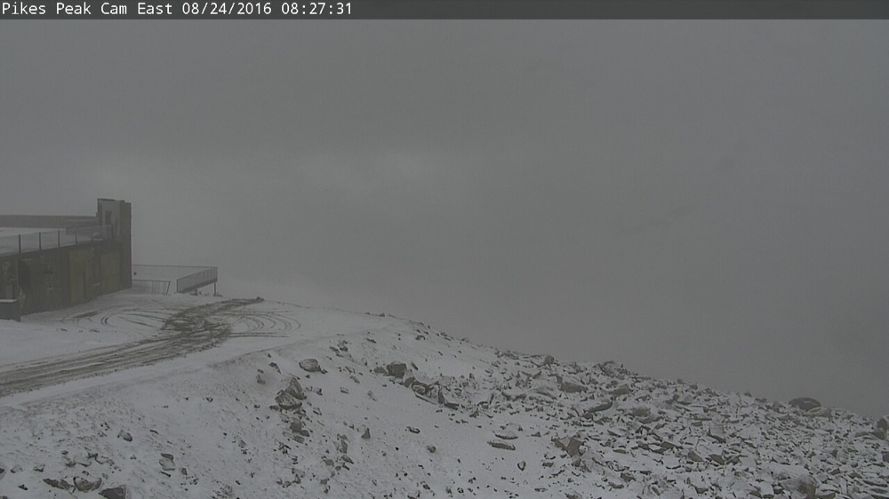 Pikes Peak at 8:30 a.m. August 24, 2016. (Courtesy City of Colorado Springs)
