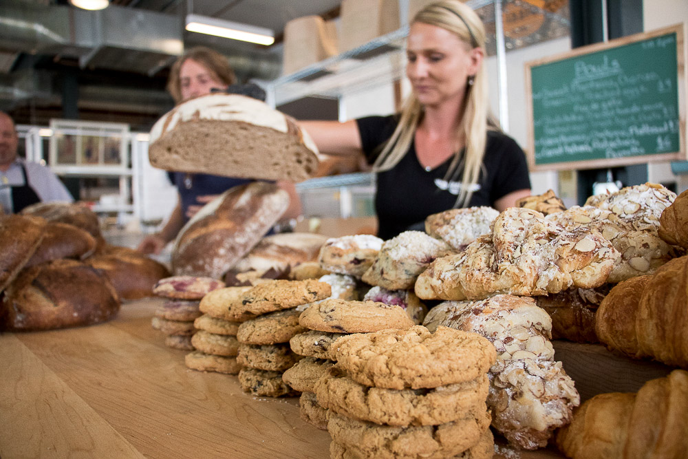 Baked goods from Izzio Artisan Bakery at Central Market. (Chloe Aiello/Denverite)