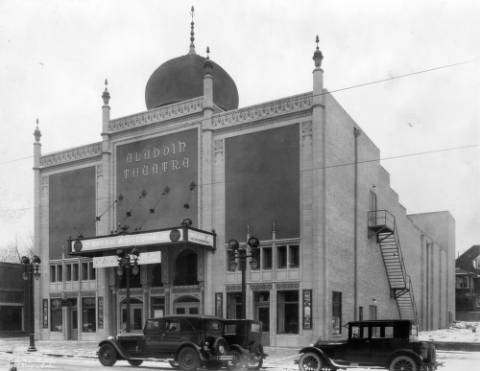 The Aladdin Theatre at 2000 Colfax Ave. in 1927. (Denver Public Library/Western History Collection/X-24785)